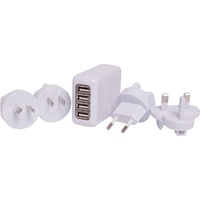 USB 4 PORT TRAVEL ADAPTR 4.1A