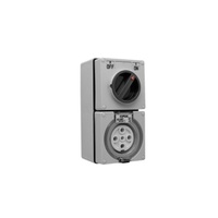 56 Series Switched Socket Outlet - 40A - 5 Pin - 3 Pole Switch - 500V - White