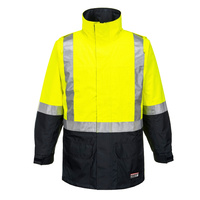 AMP MENS JACKET POLY YELLOW SMALL