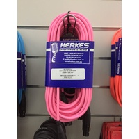 MIC LEAD FLURO  7.5MTR PINK  [BLACK ENDS]