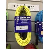 MIC LEAD FLURO  7.5MTR YELLOW  [BLACK ENDS]