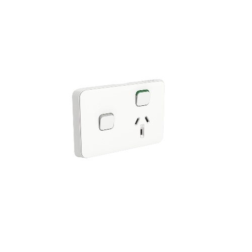 Clipsal Iconic Power Outlet 250VAC, 10A, with extra switch