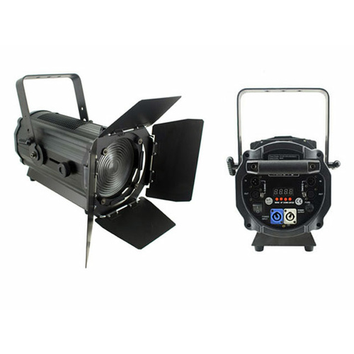 120w Cool White LED Fresnel with Barn Doors 15-55 degree zoom